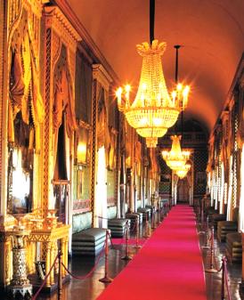 L'interno del castello di Agliè