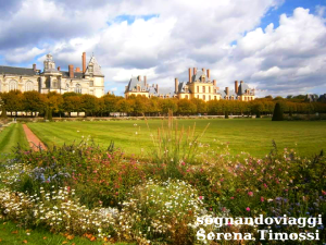 Castello di Fontainebleau visto dai giardini