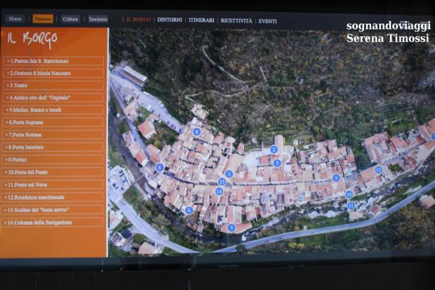 Zuccarello mappa