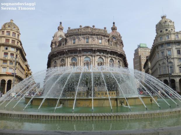 genova fontana piazza de ferrari