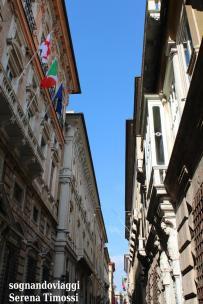 Via Garibaldi, dove si affacciano i Musei di Strada Nuova e altri Palazzi dei Rolli