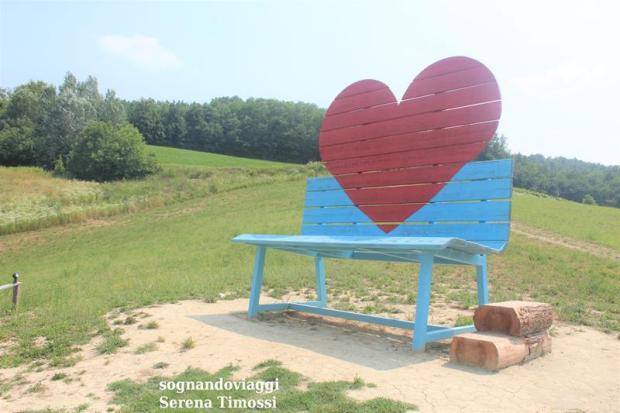 panchina del cuore dove si trova